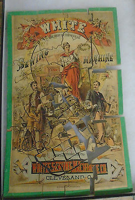 Old Vintage Antique White's Sewing Machine advertising PUZZLE