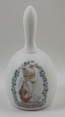 Precious Moments Enesco Bisque Porcelain Bell Easter 1993