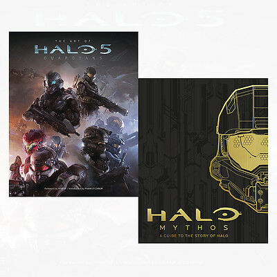 HALO Collection 2 Books Set HALO Mythos A Guide To The Story Of Hal, Art of Halo