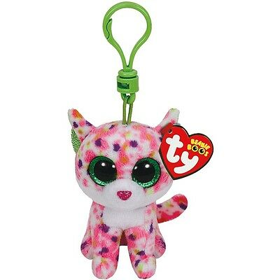 Ty Beanie Boo Sophie the Pink Cat Clip Keychain