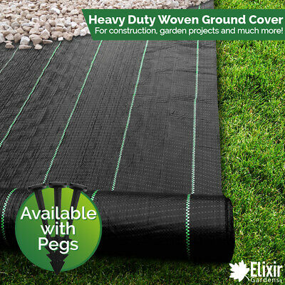 2m x 25m Woven Landscape Membrane Ground Weed Control