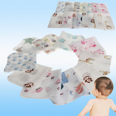 10Pcs Infant Baby Newborn Soft Washcloth Bath Towel Bathing Feeding Wipe Cloth