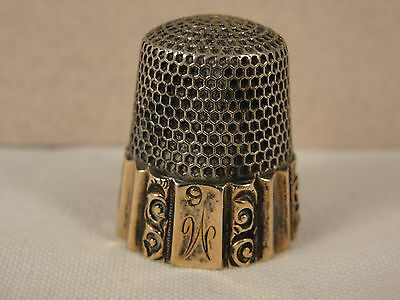 Fine Late Victorian Silver & Gold Wash THIMBLE.