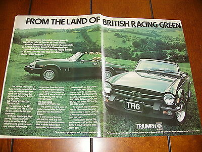 1975 Triumph Tr6 / Spitfire *original Ad* Racing Green