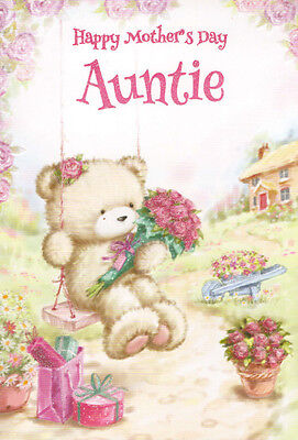 cute auntie happy mother s day card 2 x mothers day cards to