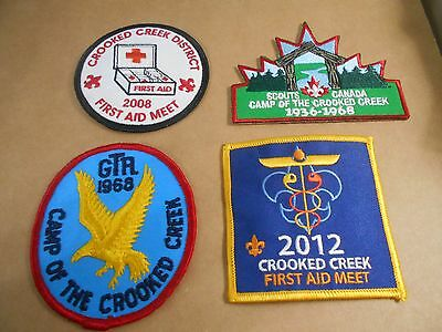 (Rz2-R)  Four Crooked Creek Scout Camp Badges   Canadian Scout Badges