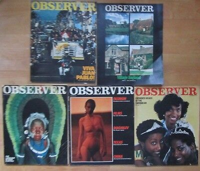 Observer Magazine - Job Lot Of 5 - All From 1979 - Free Recorded Delivery!
