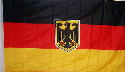 GERMANY GERMAN W/ EAGLE BANNER FLAG WITH BRASS GROMMETS NEW 3x5 ft USA seller