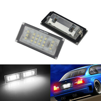 2X 18 SMD LED Licence Number Plate Light White 04-06 BMW 3 Series E46 Error Free