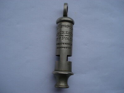 Cww1 Scarce The Metropolitan Manchester City Police Whistle By R.kelly&sons Ltd