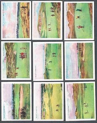 1924 Wills's Cigarettes Golfing Tobacco Cards Near Set of 24/25