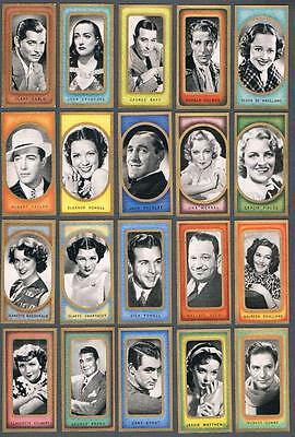 1938 Carreras Film Favourites Tobacco Cards Complete Set of 50