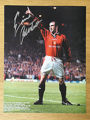 Superb Eric Cantona signed picture Manchester United autograph
