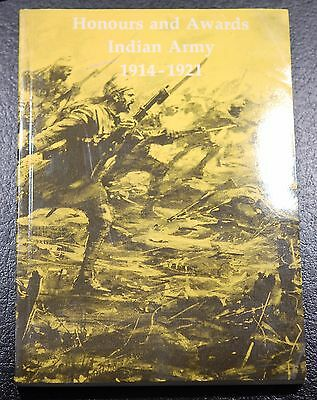 Book: Honours and Awards Indian Army 1914 - 1921 (J.B. Hayward)