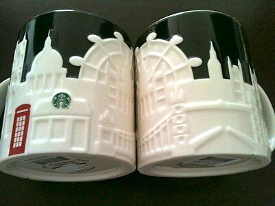 STARBUCKS CITY MUG LONDON England  RELIEF MUG Tasse Grossbritannien