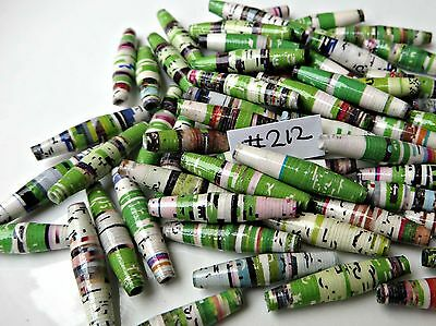 Handmade PAPER BEADS = 22mm x 50 pcs. for  Crafting, Jewellery, Curtains etc.