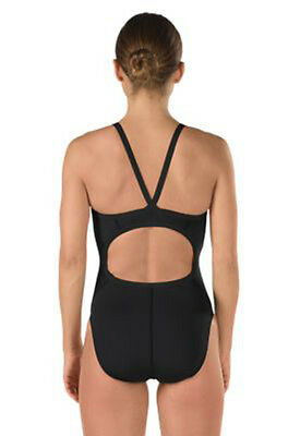New Swimsuit Black Fly Back Speedo Endurance +  Size 28