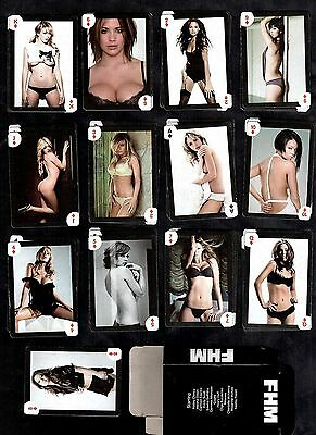 FHM Magazine Models Set Poker Playing Cards Pin-Ups Nude Dixon Electra Clancy