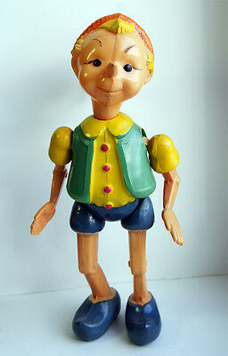 BURATINO EXTRA RARE VINTAGE CELLULOID TOY RUSSIAN USSR 1960s RARITY