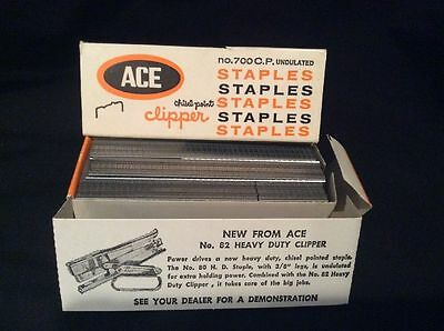 VINTAGE Box ACE Chisel-Point Clipper STAPLES 5000 for use in Plier No. 702