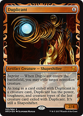 Magic The Gathering Aether Revolt Masterpiece Invention Duplicant FOIL x1