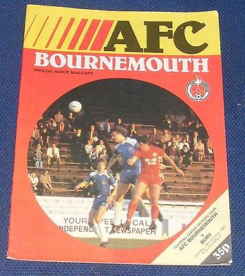 Afc Bournemouth Home Programmes 1981-1982