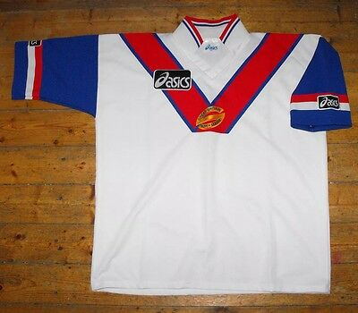ULTRA RARE & VINTAGE - GREAT BRITAIN RUGBY LEAGUE Home Shirt / Jersey ASICS XXL