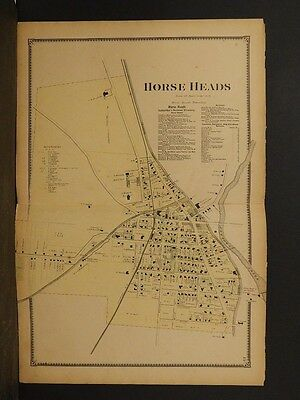 New York, Chemung County Map, 1869, Horseheads, Double Page, !Y3#52