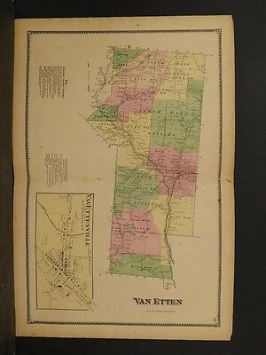 New York, Chemung County Map, 1869, Van Etten Township, Double Page, !Y3#55