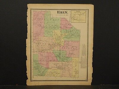 New York, Chemung County Map, 1869, Erin Township, !Y3#62