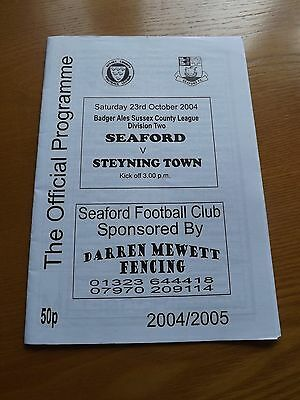 SEAFORD v STEYNING TOWN - Sussex Lge 2004/05
