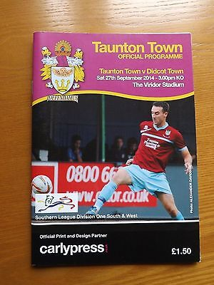TAUNTON TOWN v DIDCOT TOWN - Southern Lge 2014/15