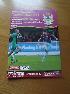 TAUNTON TOWN v NORTH LEIGH - Southern Lge 2015/16