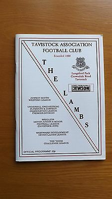 TAVISTOCK v PLYMOUTH PARKWAY - South Western Lge 1999/00