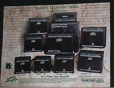 1997 Peavey Transtube Series guitar amplifiers photo print Ad