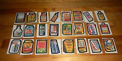 1973-75 Topps Wacky Packages Complete Set Wonder Bread Series 1, 2 & 3 72/72 EX+