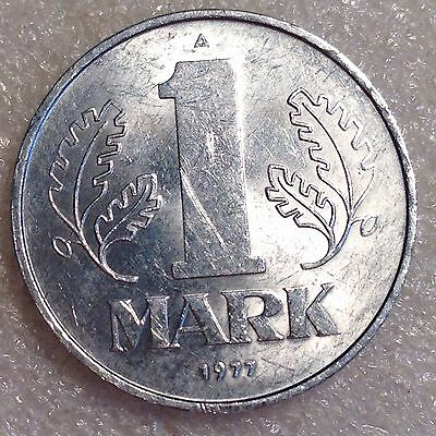 East Germany DDR 1 Mark 1977 A  Aluminum Coin