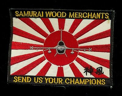 USAF 14th Fighter Squadron Samurai Wood Merchants Patch KP