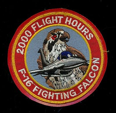 USAF F-16 Fighting Falcon 2000 Flight Hours Patch KP