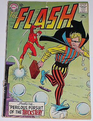 Flash #142 from Feb 1964 GD- to GD+ Trickster