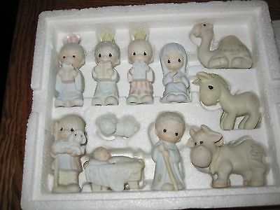 "Precious Moments-11 Piece Miniature Nativity Set ""Come Let Us Adore Him"" in Box"