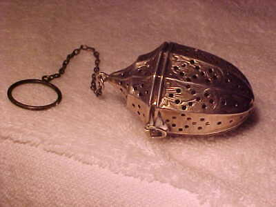 Fabulous Sterling Silver Tea Ball........signed By Maker ( W With Arrow)