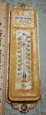 Vintage Advertising Thermometer Weigand's Ford Auto Dealer Chippewa Falls WI Wis