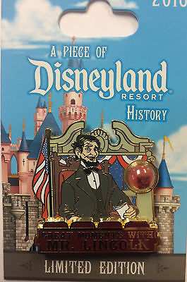 Disneyland 2016 Great Moments with Mr Lincoln Piece of Disney History POH LE Pin