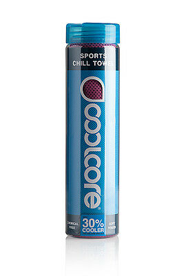Coolcore Chill Sport Towel : Upto 30% Cooler than skin temp when wet : Fuchsia :