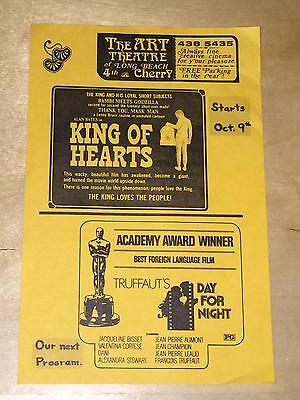 The Art Theatre Of Long Beach Movie Film Ad Alan Bates King Of Hearts Truffaut