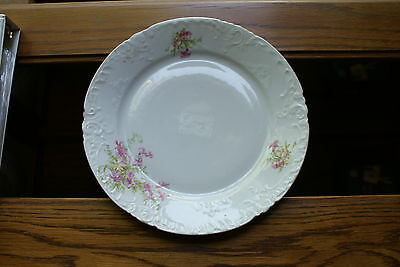Old Vintage or Antique Victoria Carlsbad Austria China Dinner Plate Pink Flowers