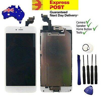 "For iPhone 6 Plus 5.5"" Digitizer LCD Touch Screen Gold Home Button Camera White"