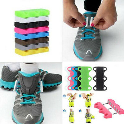 1xPair Novelty Lazy Sneaker Closure No-Tie Magnetic Casual Shoelace Shoe Buckles