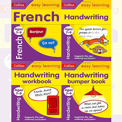 French & Handwriting Ages 7-9 Collection 4 Books Set Collins Easy Learning KS2